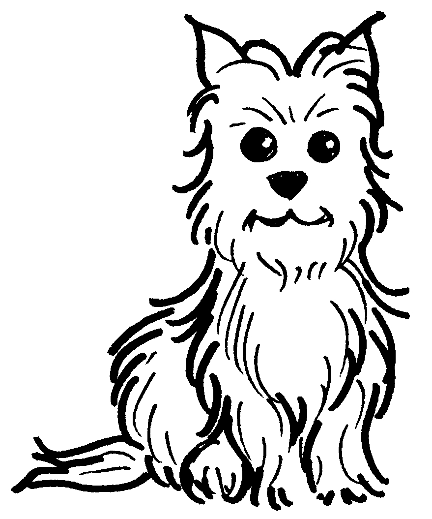 Simple dog coloring page - Toto S Tale Virtual Book Tour November Amp December 10